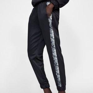 ZARA | Black Satin Joggers